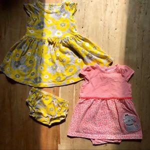 💥3/$15 2 child of mine sun dresses- 12 mo
